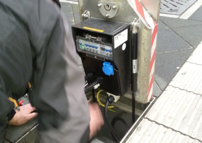 Installation eines Senkverteiler